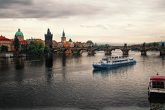 Prague 2011 (xenozauros) Tags: city river landscape prague charlesbridge vltava