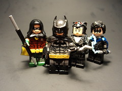 Arkham City Playable Characters (billbobful) Tags: city robin kyle tim lego dick bruce wayne grayson richard batman timothy drake asylum catwoman selina nightwing arkham