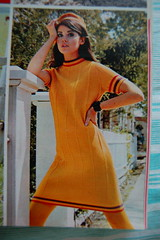 Yellow knit dress (<Vicky's Flicks>) Tags: fashion vintage 60s retro 1967 1960s magazines sixties seventeen