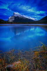 A Mt Rundle Late Afternoon (wrtrekker (Jerry T Patterson)) Tags: ocean bear ranch park travel flowers camping sunset sea summer camp vacation horse lake canada mountains west reflection water cowboys sunrise canon landscape island dawn photo spring google twilight buffalo tour photoshoot dusk hiking g wildlife parks moose hike jackson lodge willow western antelope snakeriver patterson banff wildflowers wyoming elk grizzly rv tetons bison cascade flick ynp rundle markii icefield mtrundle pronghorn canadianrockies tnp markiii abrahamlake guidedtour icefieldparkway kootenayplains cascadepark 72dpi willowflats 500px 5dm3