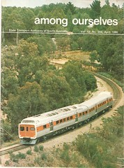 "STA ""Among Ourselves"" (RS 1990) Tags: man volvo busway retro railcar mercedesbenz adelaide 1980s southaustralia sta jumbo publication supertrain obahn b59 o305 redhen sl200 amongourselves"