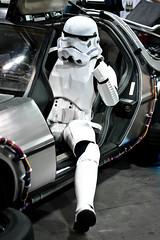 85 ABY (yeshayden) Tags: starwars cosplay stormtrooper thumbsup backtothefuture deloreandmc12 armageddonexpo2009