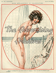 30573651 (The Advertising Archives) Tags: vintage naked french nudes bathrooms illustrations erotica retro posters artdeco bathing nudity showers washing saucy magazinecovers lavieparisienne magazineartwork theadvertisingarchives magazineplates