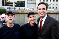 Mayor Angel Taveras at WaterFire - Gaspee Day - Photo by Emily Chadwick