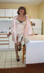 new47872-IMG_6108xtg (Misscherieamor) Tags: kitchen tv feminine cd motel tgirl transgender mature sissy tranny transvestite slip kimono satin crossdress ts gurl tg travestis travesti travestie m2f xdresser tgurl