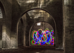 Contrast (darkday.) Tags: urban lightpainting building brick underground arch australia dungeon brisbane explore urbanexploration enjoy qld queensland exploration milf ue urbex darkarches