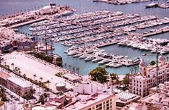 alicante marina (alex) Tags: espaa building boats miniature spain ship harbour tallship galleon tiltshift wraf tiltshiftfake pspxi alicantemarina