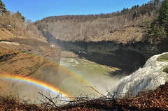 DSC_0166 (3) (Michael P Bartlett) Tags: trees water river waterfall rainbow rocks parks falls letchworth geneseoriver