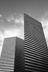 Slice (Hayjood) Tags: blackandwhite lines architecture gateway streaks bnw