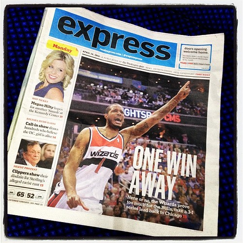 #ArizaBruh on the cover of today's WashPost Express. #Wizards