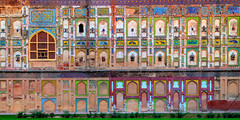 The Wall (Fortunes2011. Closure of 6 years) Tags: windows art heritage wall architecture arches unesco tiles islamicarchitecture lahorefort 15thcentury mughal lalqila mehrab frontelevation fortunes2011nikon