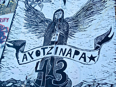 Ayotzinapa, San Francisco, CA (Robby Virus) Tags: sanfrancisco california street art college students rural mexico missing wheatpaste political murder teachers 43 guerrero iguala ayotzinapa