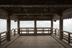 yamadera-2552-ps-w (pw-pix) Tags: wood old brown white mist black mountains cold building green wet rain japan fog clouds grey town wooden high alone quiet gloomy interior empty platform lookout shelter raining yamadera yamagata pouring veryold soaking soaked poorvisibility lookingout viewingplatform heavyrain lowvisibility budhisttemple highonamountain senzanline early1700s godaidohall