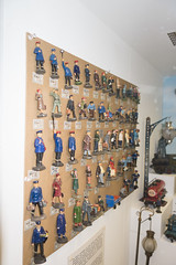 Large set of toy railroad figures