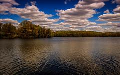 Deep Blue (david_sharo) Tags: lake reflection water clouds landscape moraine neutraldensityfilter davidsharo