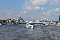(dinapunk) Tags: bridge river boat russia moscow