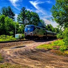 Amtrak Downeaster (Littlerailroader) Tags: railroad train newengland newhampshire trains amtrak transportation locomotive trainspotting locomotives railroads amtrakdowneaster newfieldsnewhampshire