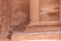 Petra, Jordan (pepperinmyteeth) Tags: city travel pink red vacation building tourism rose rock architecture lost soldier greek jones carved ancient sandstone ruins phone roman petra treasury siq columns ruin middleeast indiana tourists arabic east jordan arab worker column arabian middle wadi musa indianajones bedouin levant lastcrusade nabatean wadimusa alkhazneh