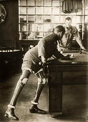 A soldier who lost both his legs in the first World War, playing a game of billiards, 1915. [1200x1654] #HistoryPorn #history #retro http://ift.tt/267VzUY (Histolines) Tags: world playing game history lost soldier war legs who first retro both his timeline billiards 1915 vinatage a historyporn histolines 1200x1654 httpifttt267vzuy