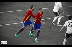 Sergio Ramos & Gerard Pique (Alvaro Miguel) Tags: espaa white black france football spain euro background uefa seleccion 2016 eurocopa sergioramos gerardpique