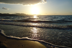 Sea (Argyro...) Tags: light sea cloud sun seascape beach nature water greece chalcis   alykesdrossias