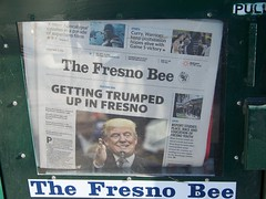 Getting  Trumped  up  in Fresno (Bob the Real Deal) Tags: newspaper fresno trump thefresnobee