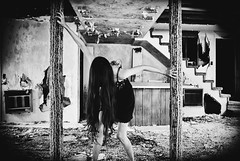 Dwell (Byrds Eye Photography) Tags: portrait people abandoned girl haunted spooky haunting darkart