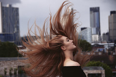 Sophie (Sophie Kenny) Tags: morning roof london girl beauty skyline hair ginger terrace redhead lipstick flick rdhead