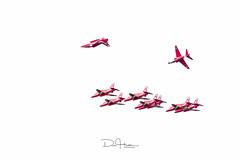 Red Arrows-1 (dalhattonphoto) Tags: red display hawk arrows inverted redarrows raf aerobatics cosford