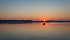 Sunrise over Drawsko Lake (estigarr) Tags: sunrise fishing drawskolake