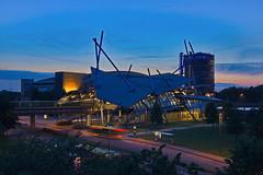 Blaue Mitte (uwe1904) Tags: architektur citylights deutschland gebude industriekultur lichter nachtaufnahmen oberhausen pentaxk3 pottleuchten ruhrpott stadtlandschaft blauestunde nrw d