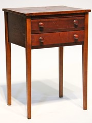 62. Two Drawer Side Table