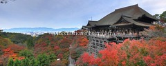 Kiyomizudera001 (vincemarion) Tags: red fall japan automne landscape rouge temple maple kyoto autumnleaves momiji paysage japon kiyomizudera feuille koyo erable couleurautomnale