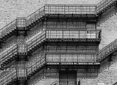 FIRE ESCAPE (t. m. angelo _ akron,ohio- moved to ipernity) Tags: film downtown summitcounty canalpark akronohio mamiyam645 madiumformat epsonv600 fugiacros