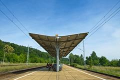 Bahnhof Neuzelle (~janne) Tags: bike bicycle bahnhof olympus architektur brandenburg verkehr fahrrad radtour rower janusz neuzelle e520 oderspree ziob