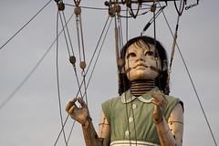 "Royal De Luxe. ""Sea Odyssey"", giant girl, street theater. Liverpool (Ianmoran1970) Tags: sleeping girl liverpool giant large streettheater royaldeluxe ianmoran seaodyssey ianmoran1970 giantspectacular"