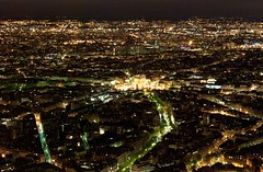 Paris, City of Light, Arc de Triomphe (Marco Boekestijn) Tags: longexposure nightphotography travel paris streets tourism landscape lights view nightshot top eiffeltower landmark tourist toureiffel aerialperspective champslyses arcdetriomph travelphotography citytrip cityoflight viewoverparis theironlady