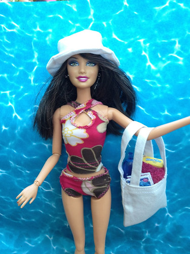 beach hat bag whitesquirrelbarbiehandmadebarbieclothesmodestbarbieclothesmodestbarbieskirtetsyhomemadehandmadereuseupcycledollsfashionistasbarbiebasics