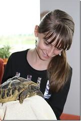 Schildpad vasthouden op je Kinderfeestje