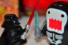 Unfair Advantage (WindUpDucks) Tags: light black skeleton star lego darth domo saber lightsaber wars vader qee