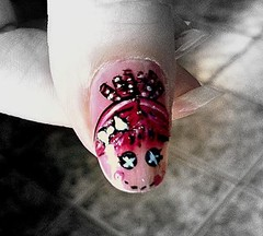 lalaloopsy nail art - first attempt (Hope's art) Tags: art nail polish nailart lalaloopsy