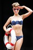 The Super hot model Daniella Moyles got temperatures soaring on Grafton Street when she donned her bikini to launch THE BIG 250,000,euro BEAUTY GIVEAWAY as part Oh Buoy! The Summer Event at Brown Thomas from 10th � 20thMay. Farrell/Photocall Ireland.
