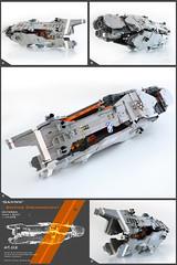 'GAHNN' Sniping Dreadnought (Pierre E Fieschi) Tags: art lego pierre space micro spaceship concept battleship microspace fieschi makaan microscale spcaecraft dreadnaought hmeworld