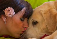 Dante & Me (Evita.D [vado e vengo]) Tags: portrait dog cane self eva labrador friendship dante perro autoritratto autorretrato amicizia retriver amistad autoscatto evitad