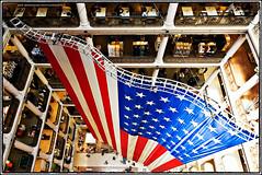 Macy's Chicago (Marshall Field's) (Jeff_B.) Tags: chicago retail america illinois unitedstates flag americanflag americana macys theloop macy statestreet marshallfield sentinelsofstatestreet