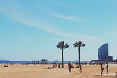 (s.gram) Tags: barcelona sky people sun beach palms sand barceloneta barcellona barcelone