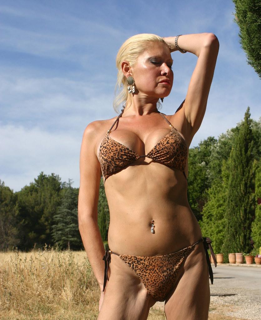 Bikini blonde Older