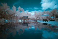 Escape From Reality (Shutter wide shut) Tags: longexposure holiday pool reflections ir philippines canoneos20d infrared bohol panglao canonefs1022mmf3545usm alonabeach leebigstopper henannresort