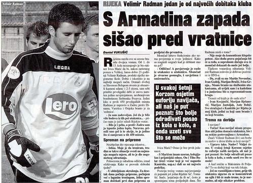 S Armadina zapada sišao pred vratnice (Sportske Novosti)
