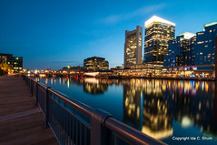 Boston Harbor Trail (idashum) Tags: city longexposure nightphotography sunset boston night docks reflections harbor pier dock nikon cityscape walk massachusetts bluehour ida shum fortpointchannel d300 fanpier idashum idacshum bostonharbortrail